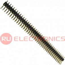 Штырь для плат 2.54 мм RUICHI PLD 2x40 (PLD-80 шаг 2.54 мм), 80 контактов