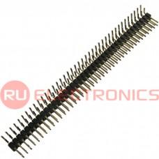 Штырь для плат 2.54 мм RUICHI PLD 2x40R (PLD-80R шаг 2.54 мм), 80 контактов