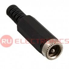 Разъём питания штырьковый RUICHI TC 5.5x2.1 мм Cable, на кабель