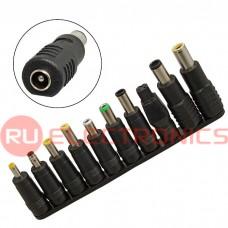 Переходной разъем RUICHI DC 5.5*2.0 to 10 adapters, съемные насадки