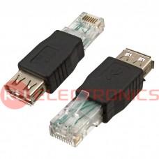 Переходной разъём RUICHI USB AF to RJ45, чёрный