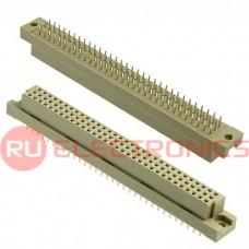 Разъём DIN RUICHI DIN41612 3*32 96 розетка, 96 контактов