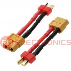 Разъем для RC моделей RUICHI XT60 F to Deans M 14AWG, длина 4 см