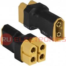 Разъем для RC моделей RUICHI XT60 M TO F*2, 2-х контактный