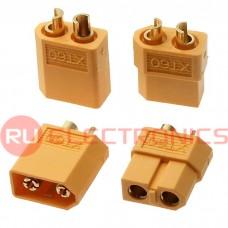 Разъем для RC моделей RUICHI XT60 M+F, 2-х контактный