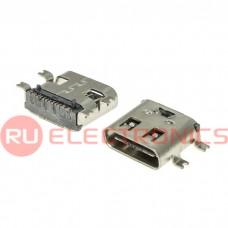 Разъем USB RUICHI USB3.1 TYPE-C 16PF-026, 16 контактов