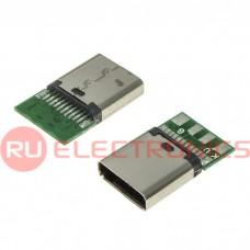 Разъем USB RUICHI USB3.1 TYPE-C 24PF-030, 24 контакта