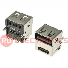 Разъем USB RUICHI USB3.1 TYPE-C 24PF-067, 24 контакта