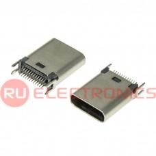 Разъем USB RUICHI USB3.1 TYPE-C 24PF-011, 24 контакта