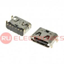 Разъем USB RUICHI USB3.1 TYPE-C 06PF-073, 6 контактов
