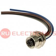 Разъем цилиндрический малогабаритный RUICHI 12-5F-HMZ12-10CM, 4 контакта