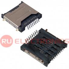 Двойной держатель mini SD карты RUICHI 8 pin, 3.3 H