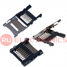 Держатель micro SD карты RUICHI SMD 8 pin, 1.8 H