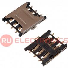 Держатель Nano SIM карты RUICHI 6 pin, 1.35 H