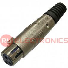 Разъём микрофонный XLR RUICHI TD-358, гнездо 3-х полюсная