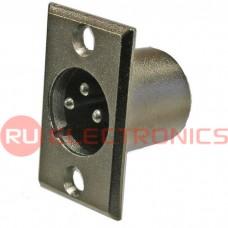 Разъём микрофонный XLR RUICHI JD-395/AUD-81, вилка 3-х полюсное
