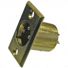 Разъем микрофонный XLR RUICHI JD-398, вилка 3-х полюсное