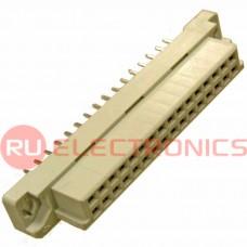 Разъём DIN RUICHI DIN41612 2*16 32 розетка, 32 контакта