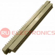 Разъём DIN RUICHI DIN41612 2*32 64 розетка, 64 контакта