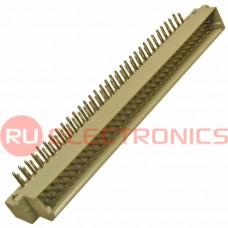 Разъём DIN RUICHI DIN41612 2*32 64 угл. вилка, 64 контакта