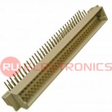 Разъём DIN RUICHI DIN41612 3*32 64 угл. вилка, 64 контакта