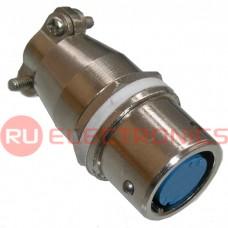 Разъем быстроразъемный RUICHI XS12-5 (Zn) panel-cable jack, 5-ти контактый