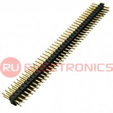 Штырь для плат 1.27 мм RUICHI PLLD1.27-80, 80 контактов