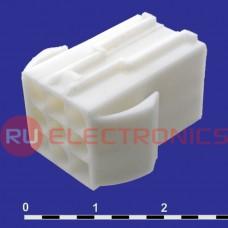 Разъём питания низковольтный RUICHI MFC-3x3M, 4.5 мм с зажимом