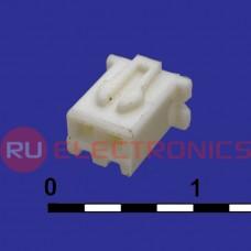 Разъём питания низковольтный RUICHI H-02 наклон 2.54 мм, клеммный, 2 контакта