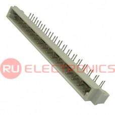 Разъём DIN RUICHI DIN41612, 2х32 мм, угловая вилка