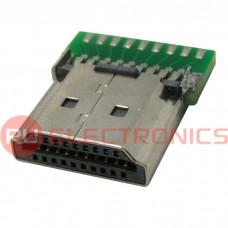 Разьем HDMI/DVI RUICHI HDMI AM - PCB, для пайки