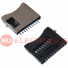 Держатель micro SD карты RUICHI SMD 8 pin (двухтактный)