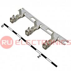 Разъём питания низковольтный RUICHI H наклон 2.54 мм, 3 контакта