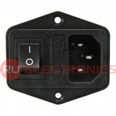 Разъем питания RUICHI AC-014, с выключателем