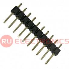 Штырь для плат 2.54 мм RUICHI PLS-10 (шаг 2.54 мм), 10 контактов