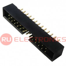 Разъём IDC RUICHI BH2-26, вилка прямая, шаг 2 мм