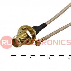 Высокочастотный разъём RUICHI UFL-F/SMA-F, JV-003+O, 41 см