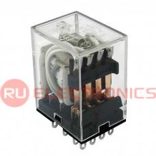 Электромагнитное реле RUICHI HJQ-22F-24VDC-4Z 5A, 2(NO - NC); 4PDT - 14pin ; form 4C