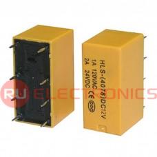 Электромагнитное реле RUICHI 4078 12VDC 2A, DPDT