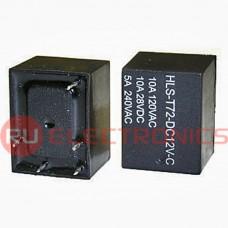 Электромагнитное реле RUICHI T72 12VDC (843) 10A, монтаж DIP