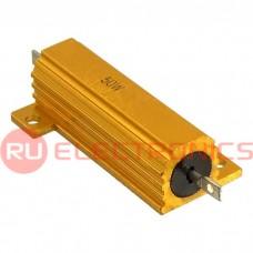 Мощный постоянный резистор RUICHI RX24 50W 5% 12R, алюминиевый корпус