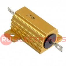 Мощный постоянный резистор RUICHI RX24 25W 5% 10R, алюминиевый корпус