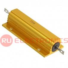 Мощный постоянный резистор RUICHI RX24 75W 5% 75R, керамо-цементный корпус