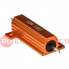 Мощный постоянный резистор RUICHI RX24 50W 5% 10R, алюминиевый корпус