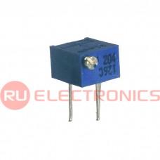 Подстроечный резистор RUICHI 3266P 20K, 12 оборотов