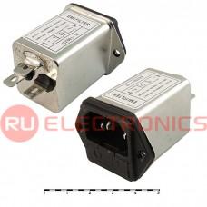 Сетевой фильтр RUICHI DL-10DZ2R  10A. 250V, 2,2 нФ