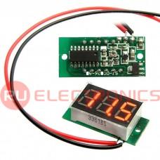 Вольтметр RUICHI 3-Digit module красный LED (4.5-30V), цифровой