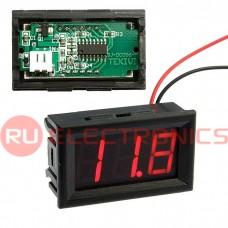 Вольтметр RUICHI V27T-DL красный (3.2-30V), цифровой