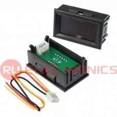 Вольтметр RUICHI 0-33,00VDC красный (45x26 мм), цифровой
