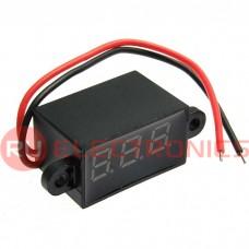 Вольтметр RUICHI 3.5-30VDC красный (27x15 мм)